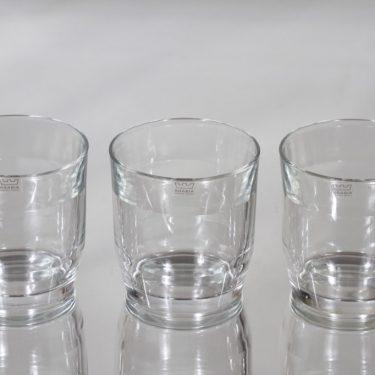 Nuutajärvi Prisma lasit, 30 cl, 3 kpl, suunnittelija Kaj Franck, 30 cl