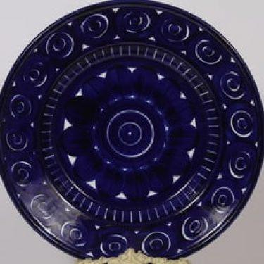 Arabia Valencia hedelmävati, käsinmaalattu, suunnittelija Ulla Procope, käsinmaalattu, suuri, syvä, signeerattu