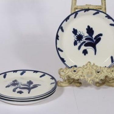 Arabia lautaset, käsinmaalattu, 4 kpl, suunnittelija Dorrit von Fieandt, käsinmaalattu, pieni, signeerattu