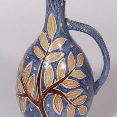 Kupittaan savi koristekaadin, käsinmaalattu, suunnittelija Laila Zink, käsinmaalattu, signeerattu