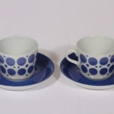 Arabia AA kahvikupit, sininen, 2 kpl, suunnittelija , puhalluskoriste, nimetön koriste