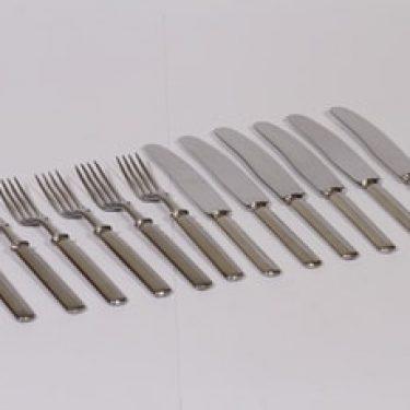 Sorsakoski veitset ja haarukat, 6+6 kpl, suunnittelija , teräs