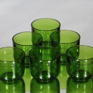 Nuutajärvi Fasetti lasit, 15 cl, 6 kpl, suunnittelija Kaj Franck, 15 cl