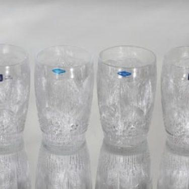 Nuutajärvi Pioni lasit, 26 cl, 4 kpl, suunnittelija Oiva Toikka, 26 cl