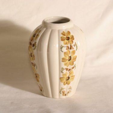 Arabia KE/A2 maljakko, käsinmaalattu, suunnittelija , käsinmaalattu, signeerattu, kukkakuvio