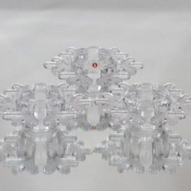 Iittala Snow Crystal tuikkulyhdyt, kirkas, 3 kpl, suunnittelija Valto Kokko,