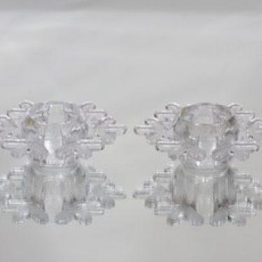 Iittala Snow Crystal tuikkulyhdyt, kirkas, 2 kpl, suunnittelija Valto Kokko,