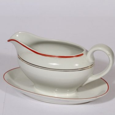 Arabia R sauce pitcher, stripe decoration