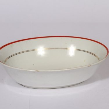 Arabia R bowl, stripe decoration