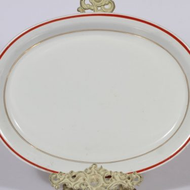 Arabia R platter, stripe decoration