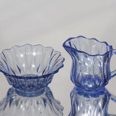 Karhula sugar bowl and creamer, sininen, suunnittelija ,