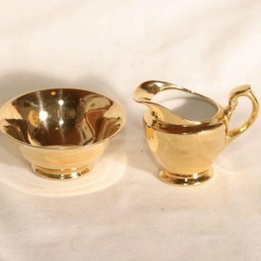 Arabia AX sokerikko ja kermakko, kultakoriste, suunnittelija , kultakoriste