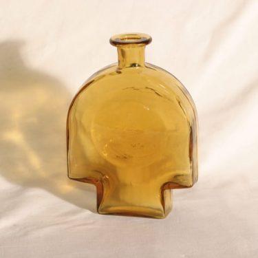 Riihimäen lasi Kyynel koristepullo, amber, suunnittelija Nanny Still,