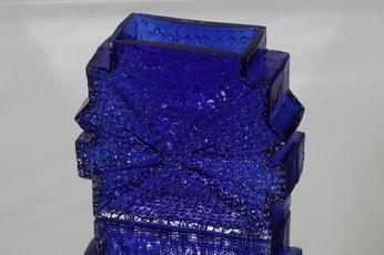 Riihimäen lasi Stellaria maljakko, massiivinen, suunnittelija Nanny Still, massiivinen