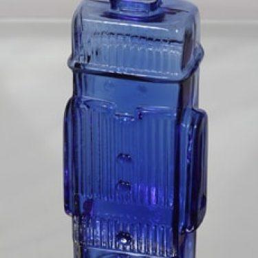 Riihimäen lasi Maaherra koristepullo, sininen, suunnittelija Helena Tynell, suuri