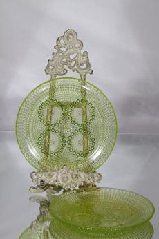 Riihimäen lasi Grapponia lautaset, keltainen, 2 kpl, suunnittelija Nanny Still,