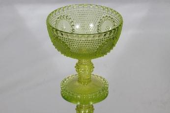 Riihimäen lasi Grapponia kulho, jalallinen, suunnittelija Nanny Still, jalallinen