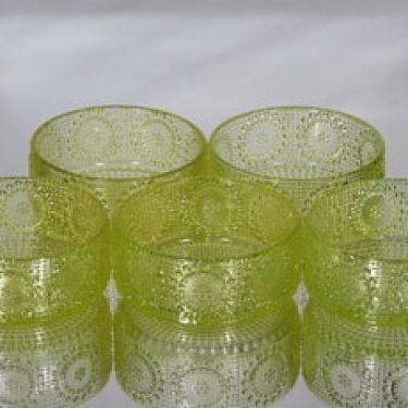 Riihimäen lasi Grapponia annoskulhot, keltainen, 5 kpl, suunnittelija Nanny Still,