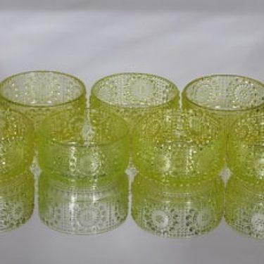 Riihimäen lasi Grapponia annoskulhot, 20 cl, 7 kpl, suunnittelija Nanny Still, 20 cl