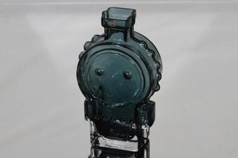 Riihimäen lasi Ahkeraliisa koristepullo, siniharmaa, suunnittelija Helena Tynell,