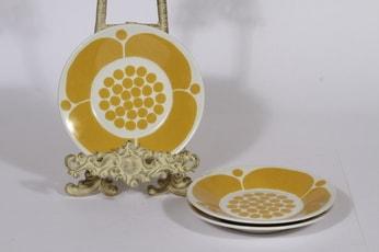 Arabia Sunnuntai lautaset, 3 kpl, suunnittelija Birger Kaipiainen, pieni, painokoriste