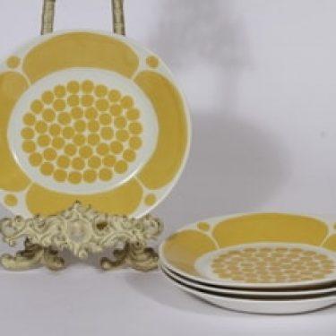 Arabia Sunnuntai lautaset, 4 kpl, suunnittelija Birger Kaipiainen, painokoriste