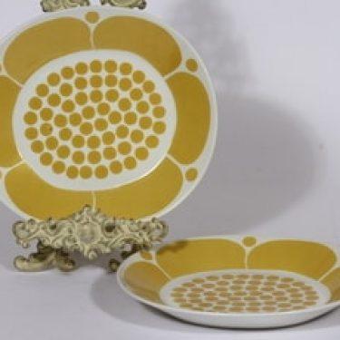 Arabia Sunnuntai lautaset, 2 kpl, suunnittelija Birger Kaipiainen, suuri, painokoriste