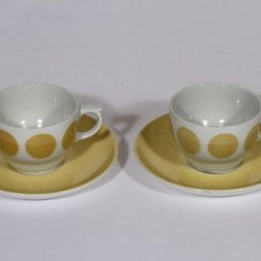 Arabia Molla kahvikupit, keltainen, 2 kpl, suunnittelija , puhalluskoriste