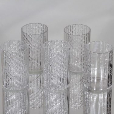 Riihimäen lasi Flindari lasit, 8 cl, 5 kpl, suunnittelija Nanny Still, 8 cl