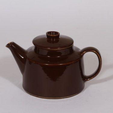 Arabia Kilta teekadin, ruskea lasite, suunnittelija ,