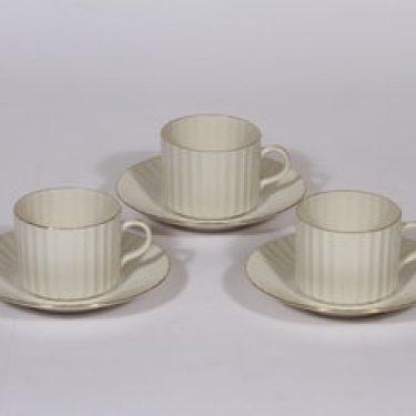 Arabia Kultakorva kahvikupit, 3 kpl, suunnittelija , kultakoriste, Kultapiisku