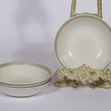 Arabia Välke lautaset, matala, 6 kpl, suunnittelija , matala, raitakoriste
