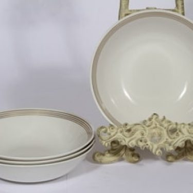 Arabia Välke lautaset, syvä, 4 kpl, suunnittelija , syvä, raitakoriste