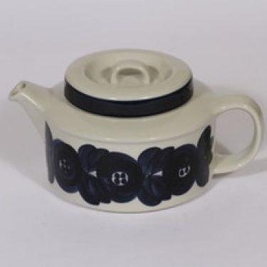 Arabia Anemone teekaadin, 1.35 l, suunnittelija Ulla Procope, 1.35 l, käsinmaalattu, signeerattu