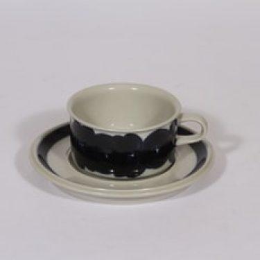 Arabia Anemone teekuppi, käsinmaalattu, suunnittelija Ulla Procope, käsinmaalattu, signeerattu