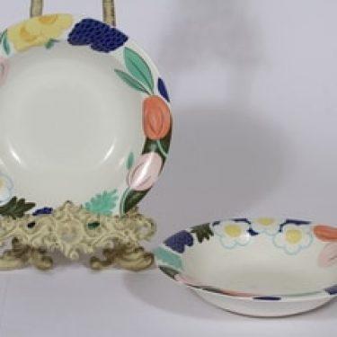 Arabia Arctica Poetica lautaset, syvä, 2 kpl, suunnittelija Dorrit von Fieandt, syvä, serikuva