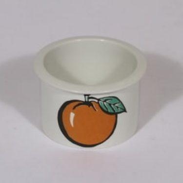 Arabia Tutti Frutti purnukka, appelsiini, suunnittelija Ulla Procope, appelsiini, pieni, serikuva