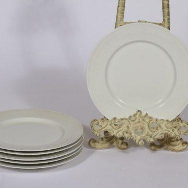 Arabia Pitsi lautaset, matala, 6 kpl, suunnittelija Raija Uosikkinen, matala, pieni, serikuva