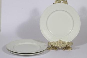 Arabia Pitsi ruokalautaset, matala, 3 kpl, suunnittelija Raija Uosikkinen, matala, serikuva