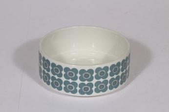 Arabia Veera kulho, siniharmaa, suunnittelija Esteri Tomula, pieni, serikuva, retro