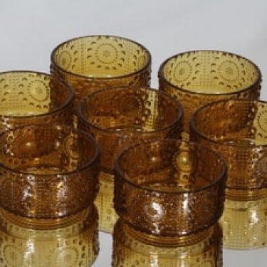 Riihimäen lasi Grapponia annoskulhot, ruskea, 7 kpl, suunnittelija Nanny Still,