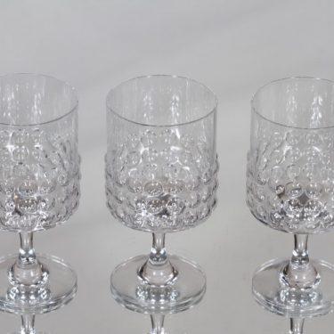 Riihimäen lasi Grappo valkoviinilasit, kirkas, 3 kpl, suunnittelija Nanny Still,