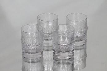 Iittala Niva lasit, 10 cl, 4 kpl, suunnittelija Tapio Wirkkala, 10 cl