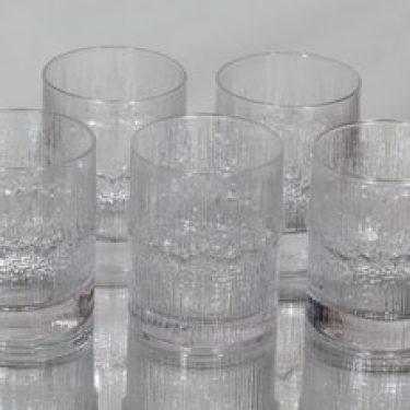 Iittala Niva lasit, 22 cl, 5 kpl, suunnittelija Tapio Wirkkala, 22 cl