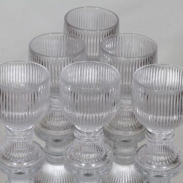 Iittala Viktor lasit, 10 cl, 6 kpl, suunnittelija Valto Kokko, 10 cl