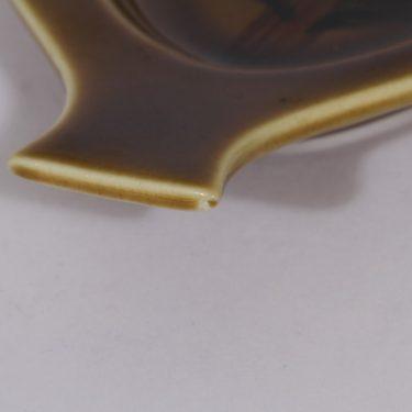 Arabia vati, käsinmaalattu, suunnittelija Gunvor Olin-Grönqvist, käsinmaalattu, signeerattu, kukka-aihe kuva 3