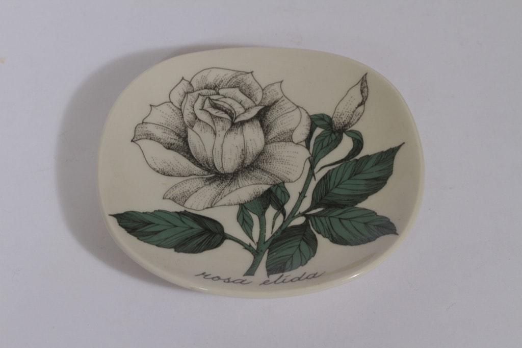 Arabia Rosa koristelautanen, Rosa elida, suunnittelija , Rosa elida, pieni, serikuva