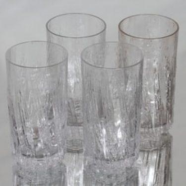 Iittala Kuura lasit, 40 cl, 4 kpl, suunnittelija Tapio Wirkkala, 40 cl