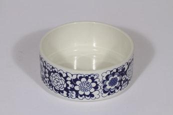 Arabia Gardenia kulho, sininen, suunnittelija Esteri Tomula, pieni, serikuva