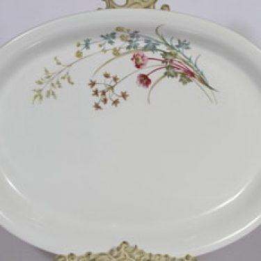 Arabia Pellervo vati, suunnittelija , soikea, serikuva, kukka-aihe